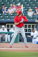 Springfield Cardinals outfielder Dylan Carlson (8) awaits a pitch during an at-bat on May 16, 2019, at Arvest Ballpark in Springdale, Arkansas. (Jason Ivester/Four Seam Images)