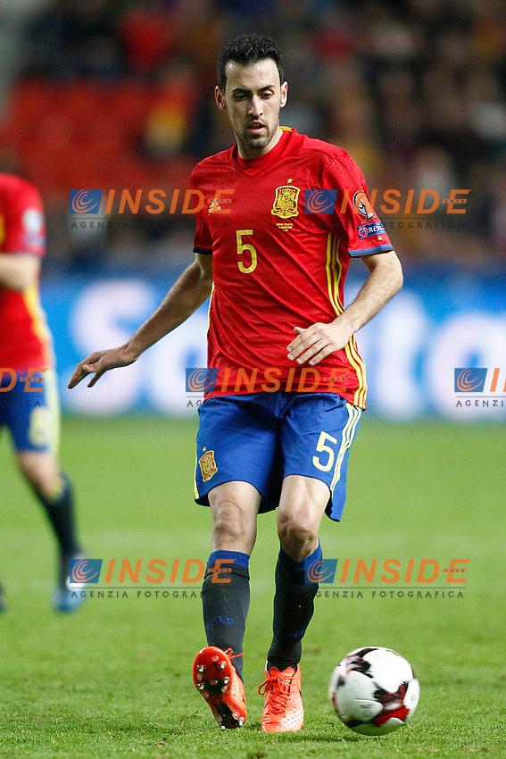 Spain's Sergio Busquets during FIFA World Cup 2018 Qualifying Round match. <br /> Gijon 24-03-2017 Stadio El Molinon <br /> Qualificazioni Mondiali <br /> Spagna - Israele <br /> Foto Acero/Alterphotos/Insidefoto <br /> ITALY ONLY