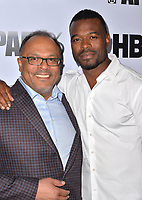 LOS ANGELES, CA- FEB. 08: Alfons Adetuyi, Lyriq Bent at the 2018 Pan African Film & Arts Festival at the Cinemark Baldwin Hills 15 in Los Angeles, California on Feburary 8, 2018 Credit: Koi Sojer/ Snap'N U Photos / Media Punch