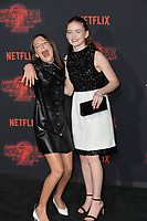 Millie Bobby Brown &amp; Sadie Sink at the premiere for Netflix's &quot;Stranger Things 2&quot; at the Westwood Village Theatre. Los Angeles, USA 26 October  2017<br /> Picture: Paul Smith/Featureflash/SilverHub 0208 004 5359 sales@silverhubmedia.com