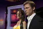 Wax figures of Brad Pitt and Angelina Joli at Madame Tussauds Hollywood, Los Angeles, CA