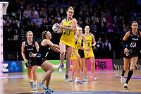 Diamonds&rsquo; Gabi Simpson in action during the International Netball Constellation Cup - NZ Silver Fans v Australia Diamonds at TSB Bank Arena, Wellington, New Zealand on Thursday 18 October  2018. <br /> Photo by Masanori Udagawa. <br /> www.photowellington.photoshelter.com