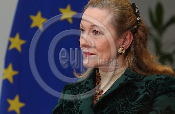 BRUSSELS, BELGIUM - NOV-26-2004 - Benita Ferrero Waldner , European Commissioner of External Affairs from Austria...