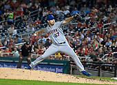 New York Mets starting pitcher Seth Lugo (67) works in the  sixth inning against the Washington Nationals at Nationals Park in Washington, D.C. on Thursday, September 20, 2018.  The Mets won the game 5 - 4 in twelve innings.<br /> Credit: Ron Sachs / CNP<br /> <br /> (RESTRICTION: NO New York or New Jersey Newspapers or newspapers within a 75 mile radius of New York City)