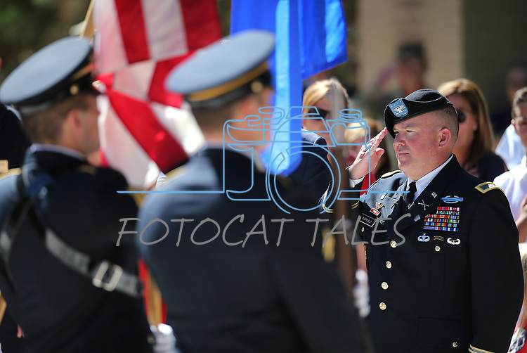 Images from the annual Flag Day ceremony and Army's 243rd birthday celebration at the Nevada Veterans Memorial in Carson City, Nev., on Thursday, June 14, 2018. <br /> Photo by Cathleen Allison/Nevada Momentum