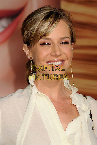 "JULIE BENZ.""Tangled"" Los Angeles Premiere held at the El Capitan Theatre, Hollywood, California, USA..November 14th, 2010.headshot portrait top blouse shirt white dangling gold earrings .CAP/ADM/BP.©Byron Purvis/AdMedia/Capital Pictures."