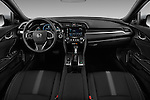Stock photo of straight dashboard view of 2017 Honda Civic EX 5 Door Hatchback Dashboard