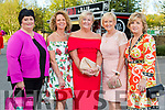 Doreen Brosnan, Margo Byrnes and Ann O'Callaghan (Tralee) with Mary Ashe (Castlemaine) and Kathleen Coffey (Killorglin) at the Rose of Tralee fashion show at the dome on Sunday night.