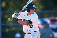 Dartmouth Big Green first baseman Michael Ketchmark (27) at bat during a game against the St. Bonaventure Bonnies on February 25, 2017 at North Charlotte Regional Park in Port Charlotte, Florida.  St. Bonaventure defeated Dartmouth 8-7.  (Mike Janes/Four Seam Images)