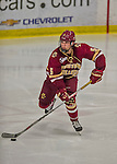 20 February 2016: Boston College Eagle Defenseman Casey Fitzgerald, a Freshman from North Reading, MA, in action during the third period against the University of Vermont Catamounts at Gutterson Fieldhouse in Burlington, Vermont. The Eagles defeated the Catamounts 4-1 in the second game of their weekend series. Mandatory Credit: Ed Wolfstein Photo *** RAW (NEF) Image File Available ***