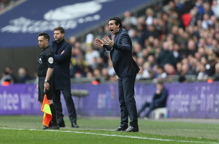 Arsenal manager Unai Emery <br /> <br /> Photographer Rob Newell/CameraSport<br /> <br /> The Premier League - Tottenham Hotspur v Arsenal - Saturday 2nd March 2019 - Wembley Stadium - London<br /> <br /> World Copyright © 2019 CameraSport. All rights reserved. 43 Linden Ave. Countesthorpe. Leicester. England. LE8 5PG - Tel: +44 (0) 116 277 4147 - admin@camerasport.com - www.camerasport.com