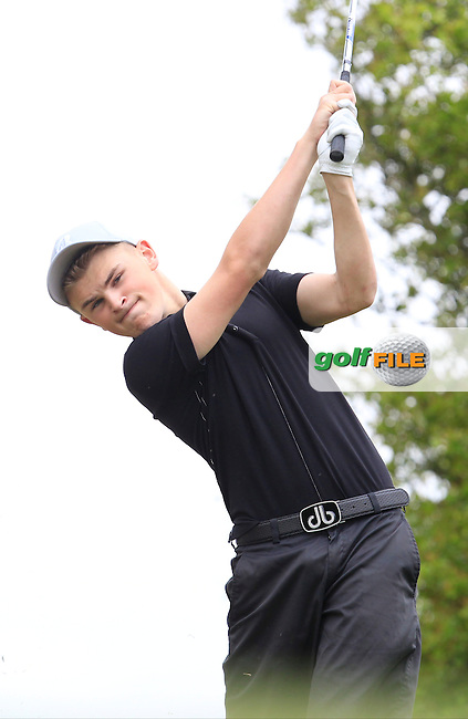 Declan Kelly (Hermitage) on the 7th tee during Round 2 of the Irish Boys Amateur Open Championship at Tuam Golf Club on Wednesday 24th June 2015.<br /> Picture:  Thos Caffrey / www.golffile.ie