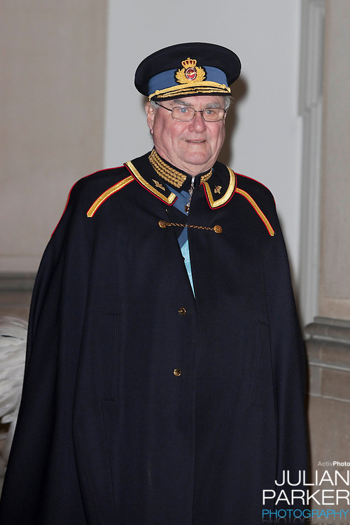 Prince Henrik of Denmark, attends the Grand New Years Court at Christiansborg Palace, in Copenhagen, Denmark.