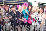 Tralee ladies Loraine McIntyre,  Hanah Shanahan, Margerat O'Rahilly,  Sandra Breen, Kay Hurley, Tessy Breen and Bina Linnane enjoying  ladies day last Friday afternoon in Listowel.
