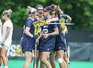 College Park, MD - May 19, 2018: Navy  players celebrates after a goal during the quarterfinal game between Navy and Maryland at  Field Hockey and Lacrosse Complex in College Park, MD.  (Photo by Elliott Brown/Media Images International)