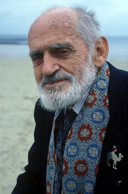 Theodore Monod in Saint-Malo during book fair in 1994.