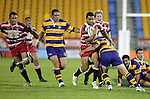 Lelia Masaga is taken  by Anthony Tahana.  Counties Manukau Steelers vs Bay of Plenty Steamers warm up game played at Mt Smart Stadium on 14th of July 2006. Counties Manukau won 25 - 20.