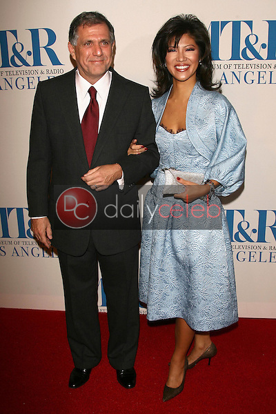 Leslie Moonves and Julie Chen<br />