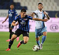 24th June 2020, Bergamo, Italy; Seria A football league, Atalanta versus Lazio;  Lazios Danilo Cataldi vies with Atalantas Ruslan Malinovskyi
