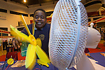 Skills Active Cymru<br /> Student Tendai John from Dylan Thomas School.<br /> Cardiff International Arena<br /> 23.10.14<br /> &copy;Steve Pope-FOTOWALES