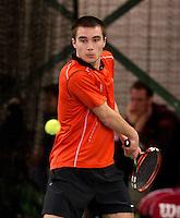 March 15, 2015, Netherlands, Rotterdam, TC Victoria, NOJK, Guy den Heijer (NED)<br /> Photo: Tennisimages/Henk Koster