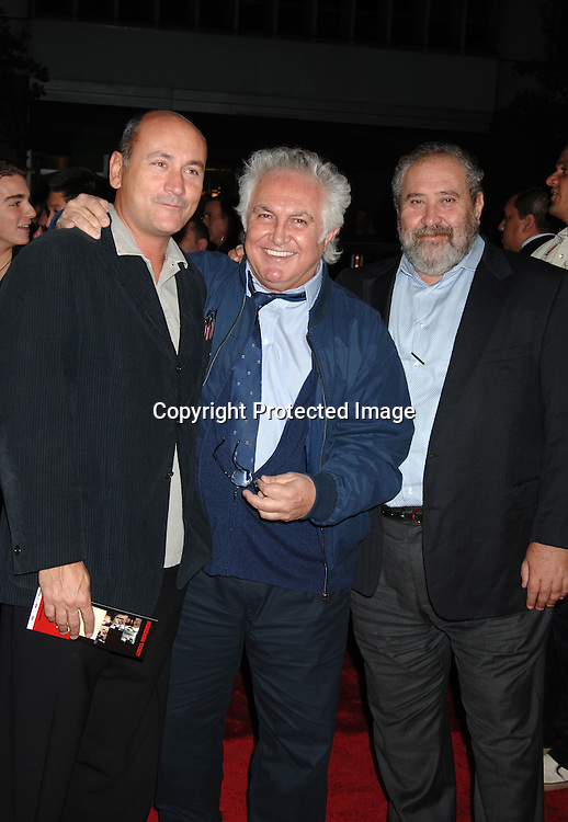 """Producer Gianni Nunnari, Tony Shrafrazzi and Yitzak Tessler..arriving at The New York Premiere of """" The Departed"""" ..directed by Martin Scorsese and starring Leonardo DiCaprio, Jack Nicholson, Matt Damon and Mark Wahlberg..on September 26, 2006 at The Ziegfeld Theatre...Robin Platzer, Twin Images"""