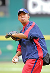 19 May 2007: Washington Nationals trainer Mac Takashima warms up some players prior to facing the Baltimore Orioles at RFK Stadium in Washington, DC. The Orioles defeated the Nationals 3-2 in the second game of the 3-game interleague series...Mandatory Photo Credit: Ed Wolfstein Photo
