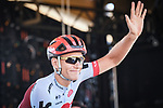 Marcel Kittel (GER) Team Katusha Alpecin at sign on before the start of Stage 11 of the 2018 Tour de France running 108.5km from Albertville to La Rosiere Espace San Bernardo, France. 18th July 2018. <br /> Picture: ASO/Pauline Ballet   Cyclefile<br /> All photos usage must carry mandatory copyright credit (&copy; Cyclefile   ASO/Pauline Ballet)
