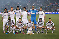 CARSON, CA – May 14, 2011: LA Galaxy starting lineup for the match between LA Galaxy and Sporting Kansas City at the Home Depot Center in Carson, California. Final score LA Galaxy 4, Sporting Kansas City 1.