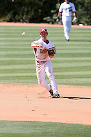 Tim Carver #18 of the Arkansas Razorbacks plays against the Charlotte 49ers in the Tempe Regional of the NCAA baseball post-season at Packard Stadium on June 3, 2011 in Tempe, Arizona. .Photo by:  Bill Mitchell/Four Seam Images.