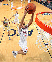 Virginia's Mustapha Farrakhan(2) slams the ball during an ACC college basketball game against Georgia Tech Wednesday Jan. 13, 2010 in Charlottesville, Va. Virginia won 82-75.  (Photo/Andrew Shurtleff)