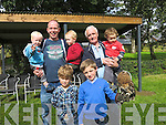 Conor Geaney gets to hold the Harris Owl on his arm on Sunday at.Castleisland Santurary at Crag Caves, Castleisland Mike O'Shea (jnr),.Mike O'Shea and Caolann O'Shea, Sean Lynch and Ryan Lynch Front Row:.James Ryan and Conor Geaney with the Owl..
