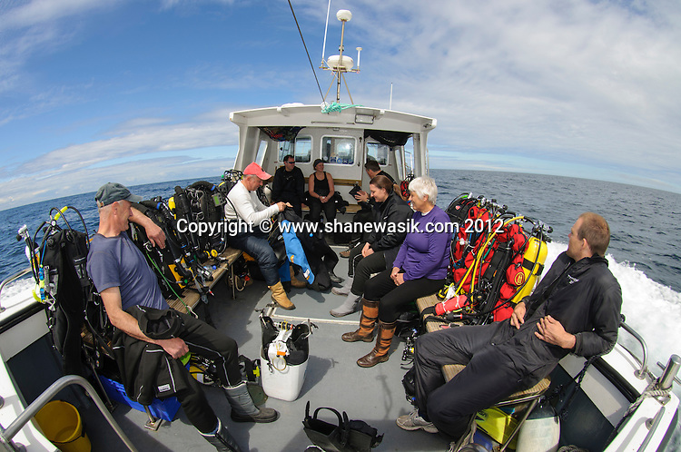 The trip to the wreck can be around 2 hours, but is enjoyable in good weather