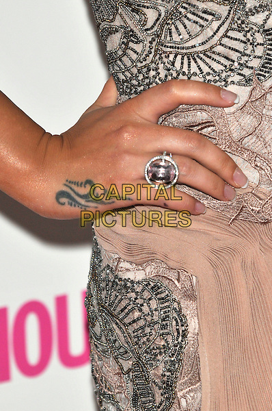 CHERYL COLE's ring .Glamour Women Of The Year Awards - Inside Arrivals, Berkeley Square Gardens, London, England, UK, .June 8th 2010..detail hand ring tattoo.CAP/PL.©Phil Loftus/Capital Pictures.