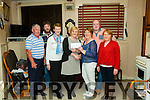 Gabriel Browne accepting a cheque on behalf of Nano Nagel School Listowel from Kathlleen Harnett, the  proceeds were  raised at the annual Connie Harnett Memorial New Year Swim in Ballybunion.<br /> L-R Marion Roche, Seamus Lane, Gaberial Browne, patrick Barry, Kathleen Harnett, James Harnett &amp; Stephen Roche
