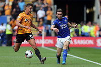Ben Chilwell of Leicester City and Leander Dendoncker of Wolverhampton Wanderers during Leicester City vs Wolverhampton Wanderers, Premier League Football at the King Power Stadium on 11th August 2019