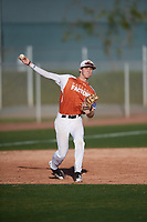 Ryan Thompson (16) of Legacy Christian Academy in Frisco, Texas during the Baseball Factory All-America Pre-Season Tournament, powered by Under Armour, on January 13, 2018 at Sloan Park Complex in Mesa, Arizona.  (Mike Janes/Four Seam Images)