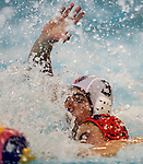 Action during the Auckland premier waterpolo final between Kings College andSacred Heart College.Diocesan School, Auckland, New Zealand. Friday 8thh April 2016. Photo: Simon Watts/www.bwmedia.co.nz