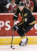 Texas Stars' Jordie Benn skates during the first period of an AHL hockey game against the San Antonio Rampage, Saturday, Oct. 13, 2012, in San Antonio. Texas won 2-1. (Darren Abate/pressphotointl.com)
