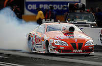 Oct. 31, 2008; Las Vegas, NV, USA: NHRA pro stock driver Jason Line during qualifying for the Las Vegas Nationals at The Strip in Las Vegas. Mandatory Credit: Mark J. Rebilas-