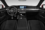 Stock photo of straight dashboard view of 2017 Lexus LS 460-Sport 4 Door Sedan Dashboard