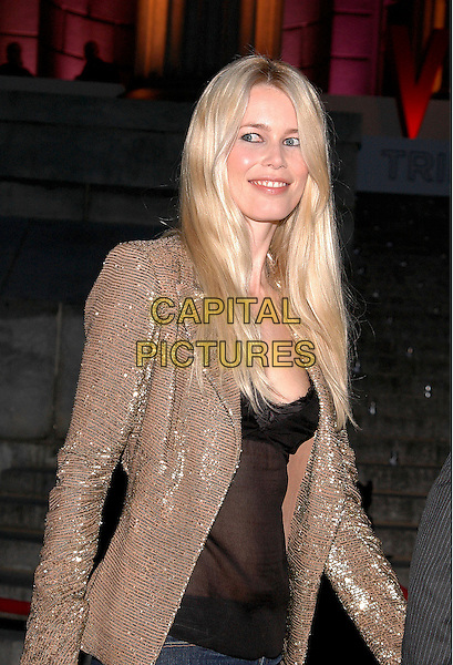 CLAUDIA SCHIFFER .Arrivals at the annual Vanity Fair Party to celebrate the Tribeca Film Festival at the State Supreme Court in downtown Manhattan, New York, USA, 20 April 2005..portrait headshot gold jacket.Ref: ADM.www.capitalpictures.com.sales@capitalpictures.com.©Patti Ouderkirk/AdMedia/Capital Pictures.