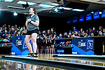 CLAYTON, MO - APRIL 14: Maria Bulanova #13 of Vanderbilt University reacts to a throw during the Division I Women's Bowling Championship held at Tropicana Lanes on April 14, 2018 in Clayton, Missouri. Vanderbilt University defeated McKendree University 4-3. (Photo by Tim Nwachukwu/NCAA Photos via Getty Images)