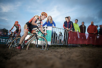 Joeri Adams (BEL/Vastgoedservice-Golden Palace) followed closely by teammate Rob Peeters (BEL/Vastgoedservice-Golden Palace)<br /> <br /> GP Zonhoven 2014