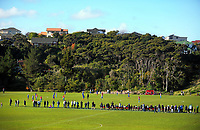A general view of Endeavour Park during the Central League football match between Western Suburbs and Napier City Rovers at Endeavour Park in Wellington, New Zealand on Sunday, 11 June 2017. Photo: Dave Lintott / lintottphoto.co.nz