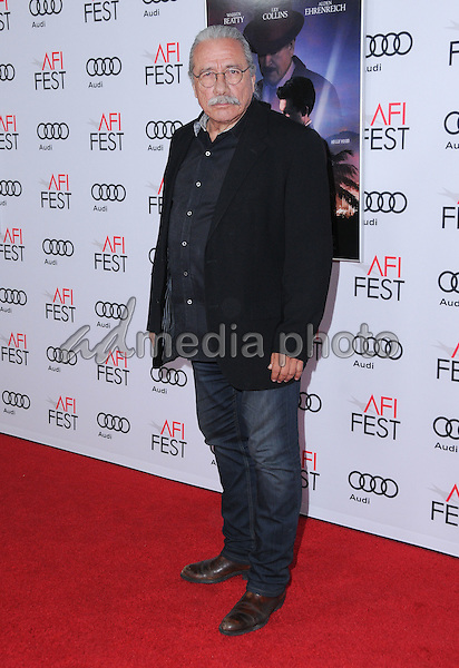 """10 November 2016 - Hollywood, California. Edward James Olmos. AFI FEST 2016 - Opening Night Premiere Of """"Rules Don't Apply"""" held at TCL Chinese Theater. Photo Credit: Birdie Thompson/AdMedia"""