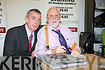 Donal Barrett and Padraig Kennelly pictured at the launch of the book Eyewitness and the website the kennelllyarchive.com in the library of the IT Tralee north campus on Thursday.