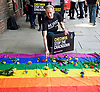 Amnesty International Chechnya Gay Protest at Russian Embassy 2nd June 2017