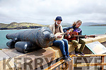Paul Evans and Daragh Lynch playing at the open day at Valentia Lighthouse on Sunday.