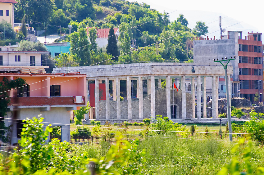The Skanderbeg tomb grave mausoleum in Lezhe. Albania, Balkan, Europe.